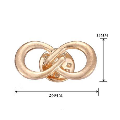 PIN WPINKA przypinka znaczek nieskończoność infinity złoty