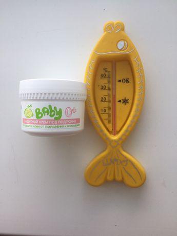 Крем под подгузник dr. Sante + термометр для воды