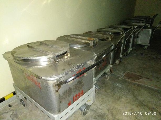 Тележки- контейнеры пищевые из нержавейки на 200-300л