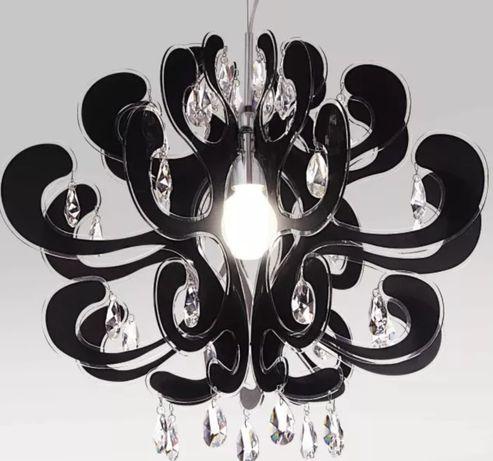 Żyrandol z krysztalami Italux v2305