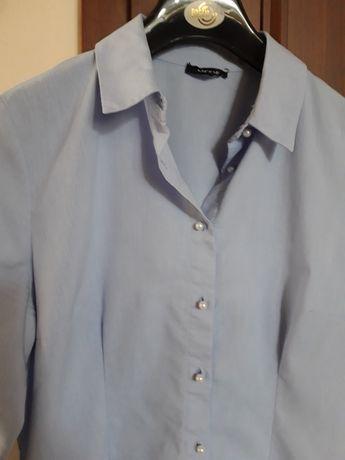 ORSAY błękitna niebieska koszula bluzka perełki 38