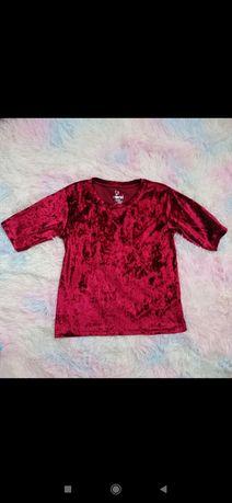 Welurowa bluzeczka dziewczęca