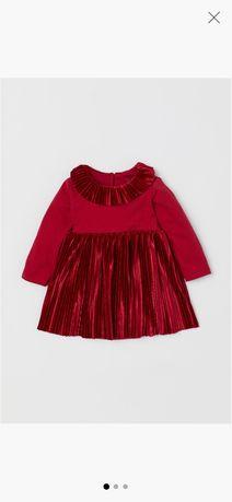 Sukienka świąteczna H&M rozmiar 68