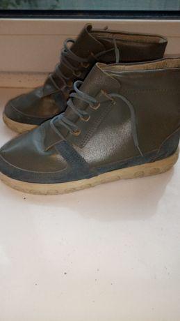 Ботинки,ботиночки как кроссовки,кожа
