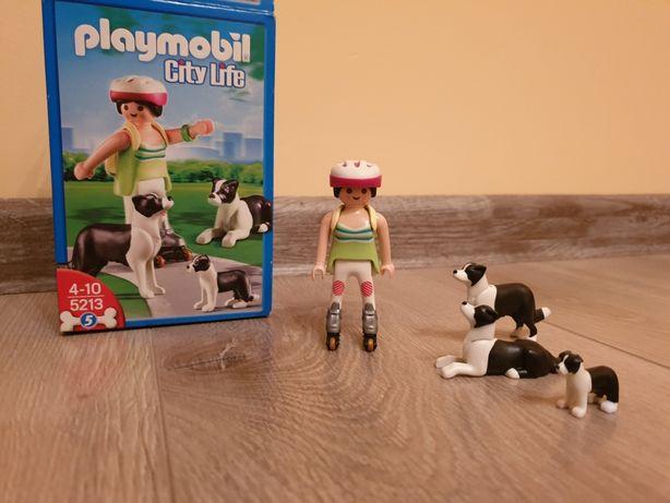 Playmobil 5213 City Life dziewczyna z psami