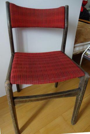 Krzesło Drewniane Pokojowe Z Obiciem Czerwono Bordowym - Wygodne