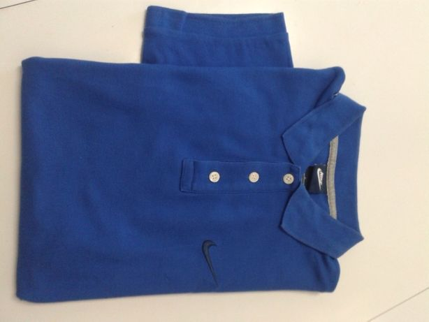 Camisola Polo homem m.manga NIKE cor azul , E BRINDE