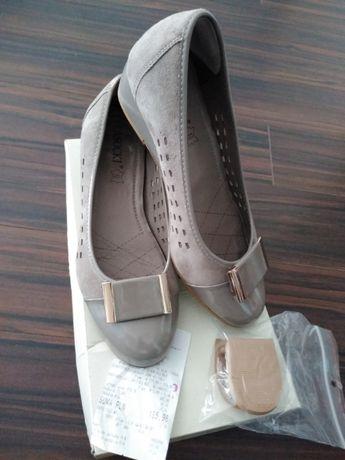 Botki buty 36 zamsz skóra