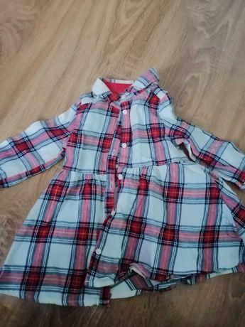 Zestaw 3 sukienek hm smyk 68