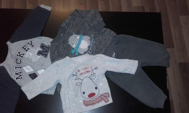 Zestaw dres, bluza, kaftanik r. 74 Disney, Cool Club