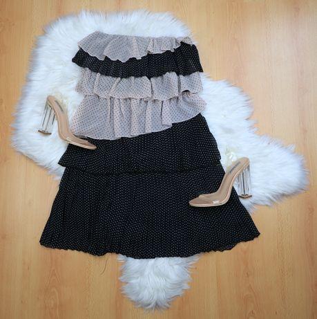 Sukienia bez ramion falbanki hiszpanka