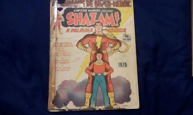 """Almanaque Super Heróis""""Capitão Marvel Shazam/O Segredo Avião Atómico"""