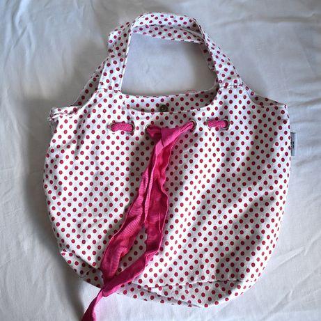 Carteira Senhora com bolinhas cor-de-rosa NOVA (estilo vintage)