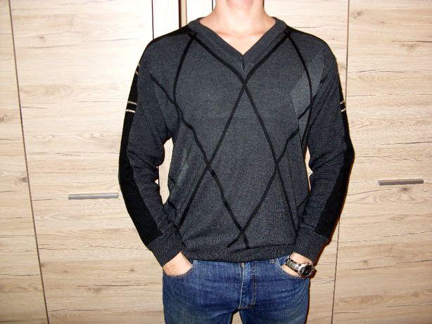 Retro Sweter Angielski Knitwear LF rozm. M