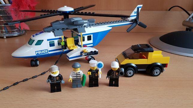Lego City 3658 helikopter policyjny 100% klocków