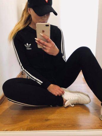 Dres adidas Damski bomberka plus spodnie z lamapsem LOGO SZYTE
