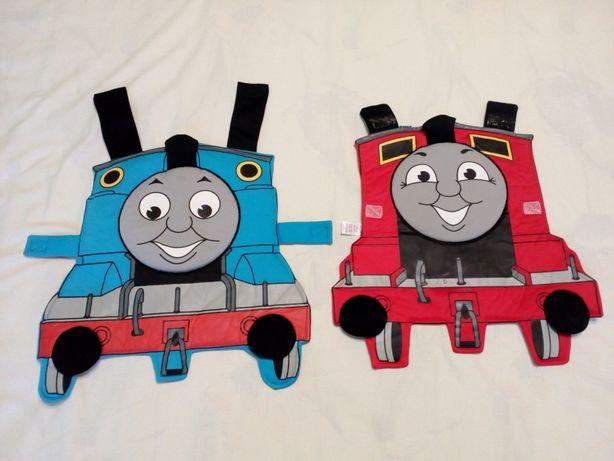 нагрудник накидка бренд TU - паротяг Томас -на 1-3 роки - 2 -х стор.