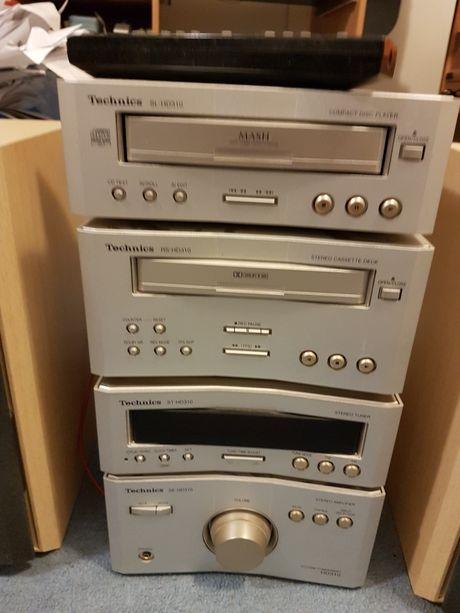 Wieza  stereo technics z kolumnami i pilotem 4 części