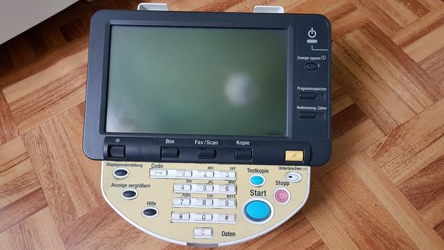 Ekran dotykowy, panel sterujący, Konica Minolta, Bizhub