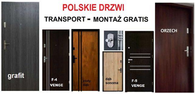Drzwi wejściowe ZEWNĘTRZNE do mieszkań Z MONTAŹEM- wewnątrzklatkowe.