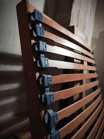 Stelaż drewniany do materaca 200*100 cm z podnoszonym wezgłowiem