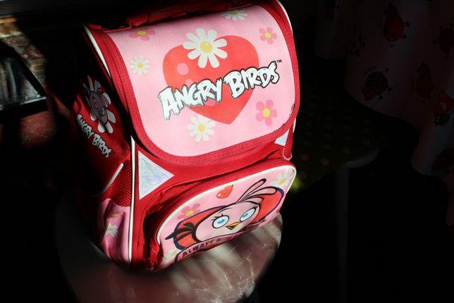Рюкзак ортопедический Angry Birds розовый