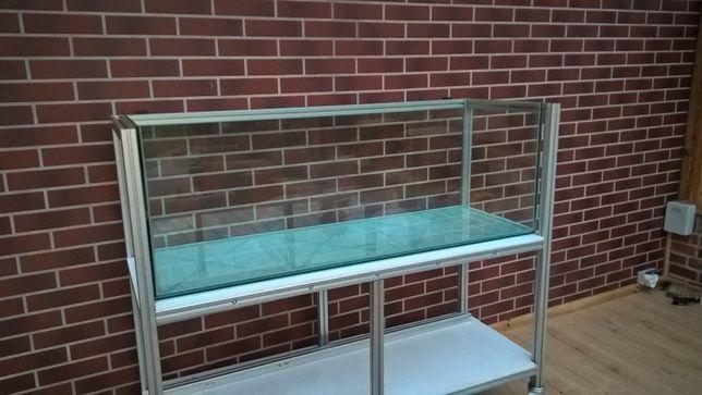 Akwarium 375l 150x50x50cm stan nowe-szkło-8mm.