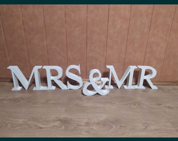 Stojący napis Mr&Mrs