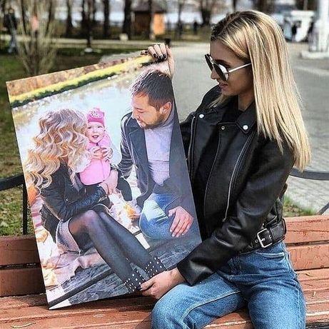 Оплата на почті Фото на холсті Картина на холстах Друк по фото портрет