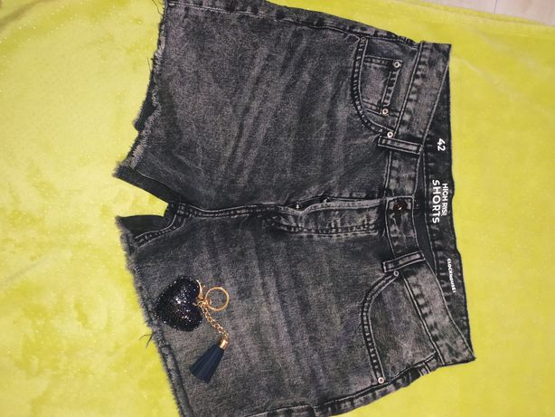 Szorty jeansowe szare