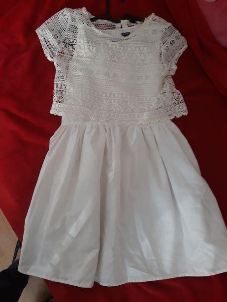Sukienka biała/kremowa 146-152 cm