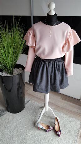 Nowa Grafitowa spódnica z gumką w pasie