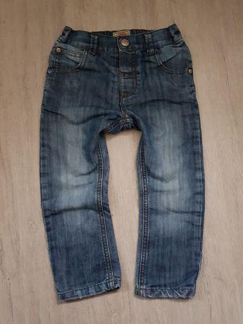 Spodnie Next jeansowe ocieplane 92