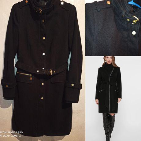 Кашемировое чёрное пальто