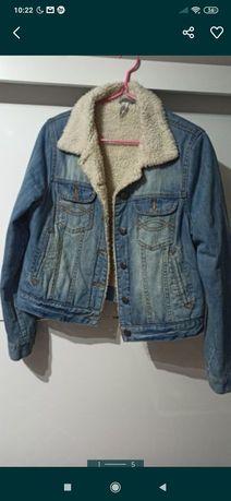 Kurtka jeansowa z Kożuszkiem 42 44