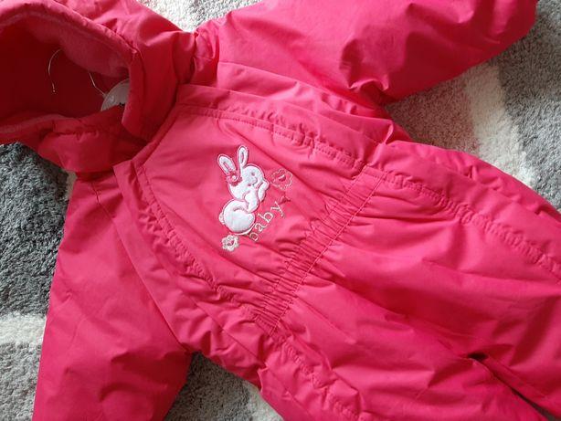 Kombinezon zimowy rozmiar 74-80 kolor różowy nowy