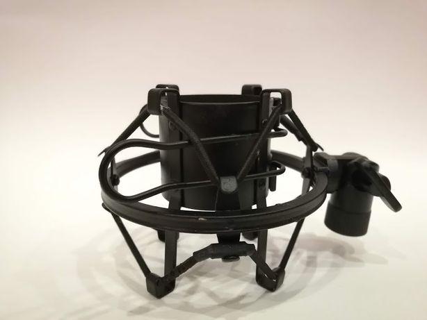 Kosz do mikrofonu pojemnościowego DSM45 czarny uchwyt mikrofonowy