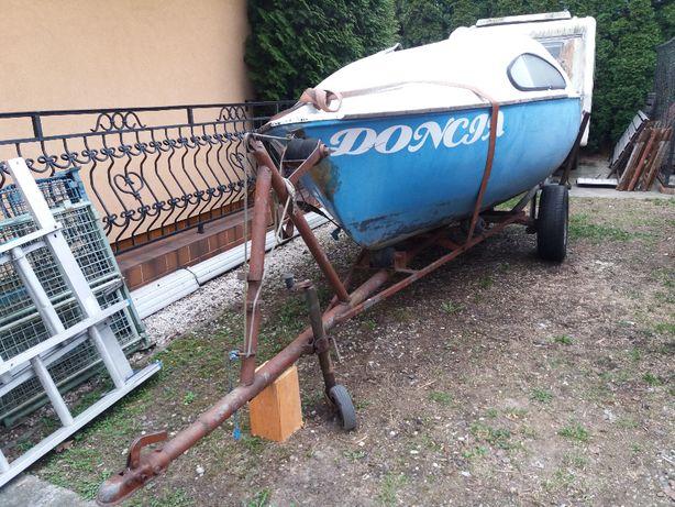 Łódz kabinowa + przyczepa podłodziowa