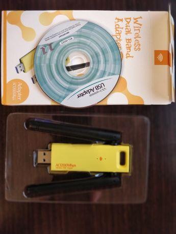 Karta Sieciowa WI-FI Adapter dual 5ghz i 2.4ghzUSB 1200Mbps A
