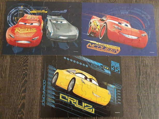 Drewniane puzzle Cars w skrzynce 3 obrazki