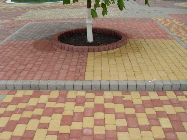 Профессиональная укладка тротуарной плитки-тротуарная плитка