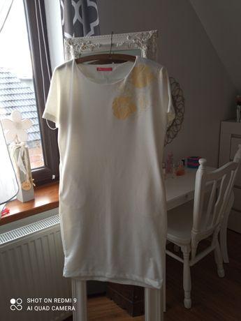 Sukienka biała ala dresowa rozmiar 42