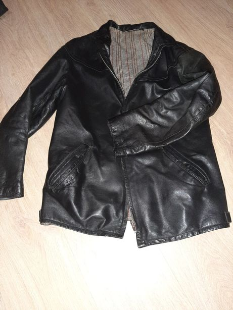Skórzana kurtka nowa ciepła