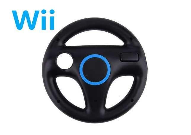 Wii   Wii U - Volante Preto - Mario Kart - NOVO