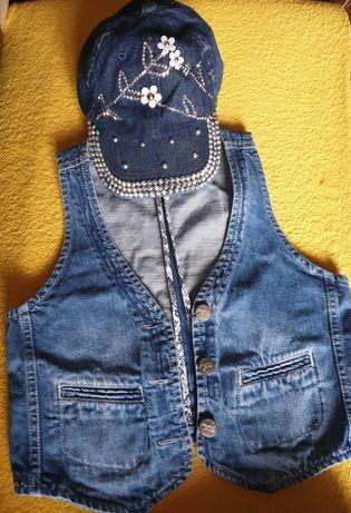 Kamizelka jeansową dla dziewczynki