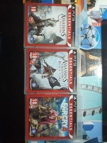 Gry na PS3:Assassin's creed black flag, assassin's creed lll i FARCRY4