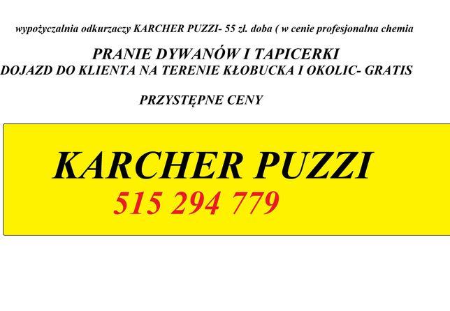 Wypożycz.. odkurzacz piorący Karcher Puzzi- 55 zł doba- chemia w cenie