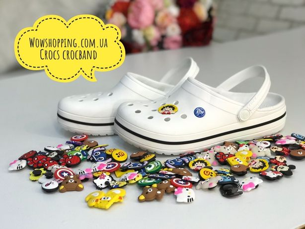 Женские Кроксы Крокбенд Crocs Crocband, Белые, нежные и красивые!