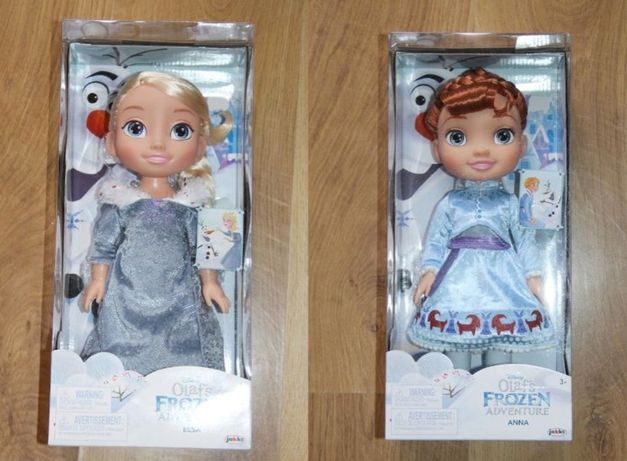 2x Disney Lalka Anna Elsa Kraina Lodu Frozen Przygoda Olafa barbie mi