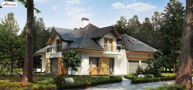 Projekt domu z dachem kopertowym